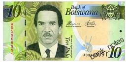 BOTSWANA 10 PULA 2014 Pick 30d Unc - Botswana
