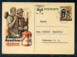 Ostmark/Wien; PK 6+4 Pf., Gel. 1941; Sonderpostkarte Für Winterhilfswerk / WHW - Ganzsachen