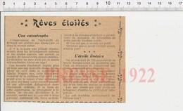 Presse 1922 Astronomie étoile Nova Constellation Aquila Observatoire Université De Haward (Harvard ??) 226E - Old Paper