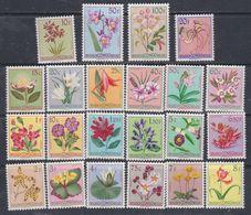 Congo Colonie Belge N° 302 / 23 XX Série Courante : Fleurs : La Série Des 22 Valeurs  Sans Charnière, TB - Congo Belge