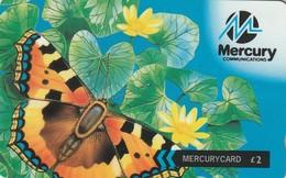 TARJETA TELEFONICA DE GRAN BRETAÑA, British Wildlife. Butterfly (Mercury Pager) 37MERC. MER434C  (001) - Reino Unido