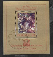 POLONIA - PRAGA '76 - ESPOSIZIONE FILATELICA  - FOGLIETTO USATO (YVERT BF81 - MICHEL BL73) - Esposizioni Filateliche