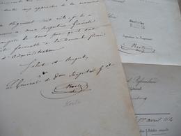 Général Korté 1 LAS 05/10/1848 Effets Régiment De Cavalerie + Certificat De Vie Le Nommant Du Sénat 08/04/1854 - Documents