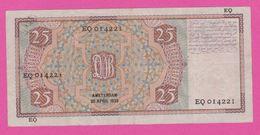 NETHERLANDS - PAYS BAS - 25 Gulden Du 20 05 1939  - Pick 50 TB+ - [2] 1815-… : Kingdom Of The Netherlands
