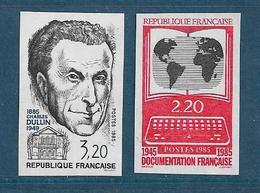 France Timbres De 1985  N°2390 Et 2391  Non Dentelé Neufs ** Gomme Parfaite Cote 30€ - France