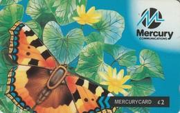 TARJETA TELEFONICA DE GRAN BRETAÑA, British Wildlife. Butterfly (Freecall 0500 Calls) 39MERA. MER434D  (002) - [ 4] Mercury Communications & Paytelco
