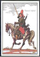 4-729 RUSSIA 1989 POSTCARD Mint ARMY 1812 GUERRE WAR Napoleon UNIFORM COSTUME Cavalry ARCHERY TIR ARC BOGENSCHIESSEN 11 - Uniforms