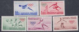 Congo Colonie Belge N° 367 / 71 XX  Jeux Olympiques De Rome: La Série Des 5 Valeurs  Sans Charnière, TB - Congo Belge