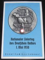 Postkarte Propaganda - 1. Mai 1938 - Deutschland
