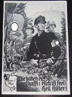 Postkarte Propaganda - Freikorps Asch 1938 - Deutschland