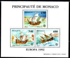 MONACO - Rare Bloc Europa 1992   - Neuf ** - MNH - Cote: 155,00 - - Blocs