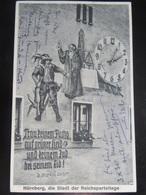 Postkarte Propaganda - Judaika - Reichsparteitage - Briefe U. Dokumente