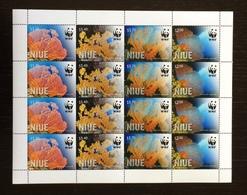 Niue 2012; WWF Fauna Wildlife Marinelife; MNH VF** Rare Full Sheet!! - Niue