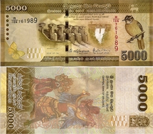 SRI LANKA        5000 Rupees       P-128[d]       4.7.2016     UNC - Sri Lanka