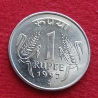 India 1 Rupee 1997 ( M )  KM# 92.2 Lt 588 Inde Indien Indies - Inde
