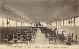 - Doubs -ref-A860- Besançon - Maisons D Enfants Des Salins De Bregille - Interieur De La Chapelle - Carte Bon Etat - - Besancon