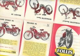"""Catalogue Cyclomoteurs Motos """"FOLLIS"""" 12 Pages Format 14 X 11 Cm Env. Plié - Motos"""