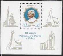POLONIA - 3a VISITA PAPA GIOVANNI PAOLO II IN POLONIA 1987 - BLOCCO NUOVO** (YVERT BF 113 - MICHEL BL 103) - Cristianesimo