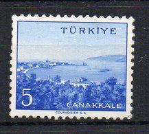 TURQUIE - TURKEY - CHEFS LIEUX DE DEPARTEMENTS - DISTRICT CITIES - CANAKKALE - 1958 - - 1921-... République
