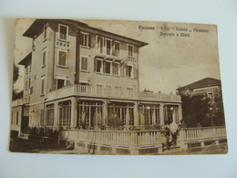 RICCIONE HOTEL VIENNA   ALBERGO   VIAGGIATA  COME DA FOTO FORMATO PICCOLO BOLLO RIMOSSO - Alberghi & Ristoranti