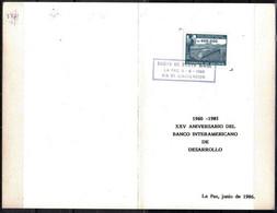 Bolivia 1986 CEFIBOL 1244T Tarjeta 25 Aniversario Del BID. Viaducto En La Carretera Quillacollo A Confital. - Bolivie