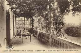 - Doubs -ref-A856- Besançon - Maisons D Enfants Des Salins De Bregille - Bregille Filles - Terrasse Pavillon St Georges - Besancon
