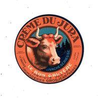 39 - Etiquette Fromage : CREME DU JURA, Fromageries GROSJEAN Frères, - Quesos