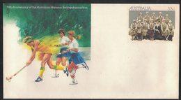 E95   Australia 1985 - 75th Anniversary Of Australian Women's Hockey Association - Hockey (su Erba)
