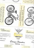 "Catalogue 1955 Cyclomoteurs Motos ""CLAEYS-FLANDRIA"" 12 Pages Format 14 X 13 Cm Env. Plié - Motos"