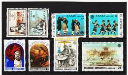 LKA559 EUROPA CEPT 1980/83 GRIECHENLAND Michl 1411/12+1445/46+1481/82+1513/14 ** Postfrisch - Europa-CEPT