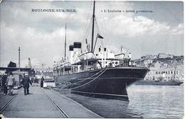 CPA-1920-62-BOULOGNE--PORT- Le Ferry INVICTA Sous Préssion-TBERARE - Ferries