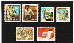 LKA556 EUROPA CEPT 1980/83 PORTUGAL Michl 1488/89+1531/32+1564+1601 ** Postfrisch - Europa-CEPT