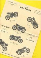 """Catalogue D.S. Motos """"MALTERRE"""" Format A4 Recto/verso - Motos"""