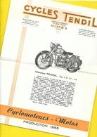 "Catalogue Cyclomoteurs Motos ""TENDIL"" 4 Pages Format A4 - Cyclisme"