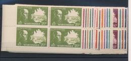 CP-326: MARTINIQUE: Lot  Avec N°199/217**en Blocs De 4 - Martinique (1886-1947)