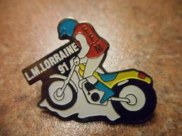 A033 -- Pin's Moto LM Lorraine 91 -- Exclusif Sur Delcampe - Motos