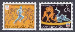 Serbia, Yugoslavia 2004 Olympic Games Athens, Ancient Greece, Sport, Athletics, Wrestling, Set MNH - Summer 2004: Athens