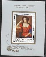 POLONIA - PHILEXFRANCE 1982 -  FOGLIETTO USATO -  (YVERT BF 96 - MICHEL BL 88) - Esposizioni Filateliche