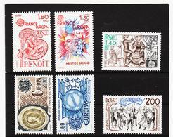 LKA553 EUROPA CEPT 1980/82 FRANKREICH Michl 2202/03+2259/60+2329/30 ** Postfrisch - Europa-CEPT