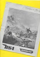 """Catalogue 1956 Motos """"BSA SUNBEAM"""" 6 Pages Format A4 - Motorfietsen"""