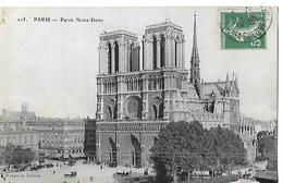 CPA Animée 1908 / 75 PARIS /  NOTRE-DAME Façade - Notre Dame De Paris