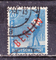 Berlino Settore Occidentale 1948  20 P Sov. Rossa . Usato - [5] Berlino