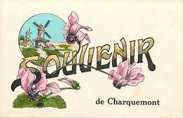 - Doubs -ref-A844- Charquemont - Souvenir De .. - Fleurs Et Moulins A Vent -  Carte Bon Etat - - France