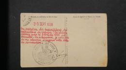 Carte Formulaire Service Militaire Pour Annulation De Convocation Suite Aux Accords De Munich 30 Septembre 1938 - Marcophilie (Lettres)