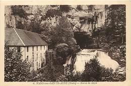 - Doubs -ref-A843- Nans Sous Sainte Anne - Nans Sous Ste Anne - Source Du Lizon - Sources - Carte Bon Etat - - France