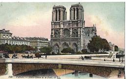 CPA Animée 1908  75 PARIS /  NOTRE-DAME  Et Le Pont - Notre Dame De Paris
