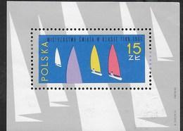 POLONIA - CAMPIONATO VELA CLASSE FINN 1965 -  FOGLIETTO NUOVO* -  (YVERT BF 43 - MICHEL BL 36) - Vela