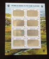 Mongolia 2000; WWF Animals & Fauna; Mammals; MNH, Neuf**, Postfrisch; Rare 3D Hologram Sheet! - Mongolia