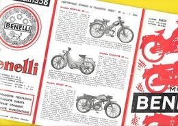 """Catalogue 1958 Motos """"BENELLI"""" 6 Pages Format A5 Plié - Motos"""
