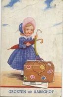 Aarschot :  Groeten Uit   ---  Systeemkaart     (  Geschreven 1937 Met Zegel  ) - Aarschot
